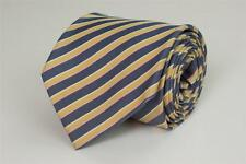 SARTORIA ITALIANA La Rinascente Silk Tie. Gray Yellow Pink Stripe