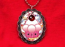 KAWAII CUPCAKE CAKE CHERRY BAKER PENDANT NECKLACE