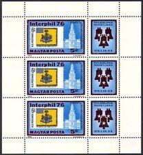 UNGHERIA 1976 BANDIERE MILITARI/BUILDING/architettura/Campane/stampex 3 V M/S (n40305)