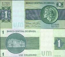 BRESIL Billet neuf de 1 CRUZEIRO BRAZIL Pick191Ac TETE DE LA LIBERTE  1980