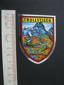 TROLLSTIGEN Norwegen Norge Noreg Urlaub Sticker Aufkleber Werbung Reklame