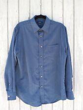 Men's Medium Shirt Blue Button Down Long Sleeve Pocket DressyCROFT & BARROW