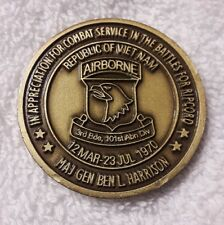 AUTHENTIC MG BEN HARRISON RIPCORD HILL 1000 902 805 101 ABN RARE CHALLENGE COIN