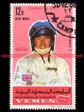 STEWART Jackie Pilote F1 YEMEN Timbre Poste Moto 1969 Stamp Stempel Sello