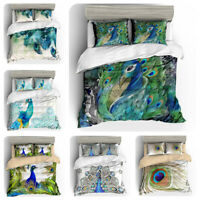 3D Beautiful Peacock Peafowl Duvet Cover Bedding Set Pillowcase Comforter Cover