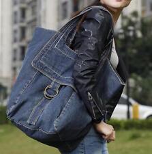 2017 womens denim bucket messenger big bag handbag shoulder blue travel Bag