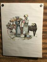 "Norman Rockwell ~ ""Country Pedlar""  18x24 Limited Lithograph #42/300 ~ 1962"