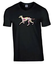 More details for greyhound hearts design tshirt black t-shirt crew neck dog tee shirt mothers day