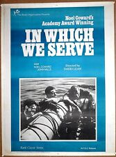 In Which We Serve 1942 Original Release India 1sh Noel Coward