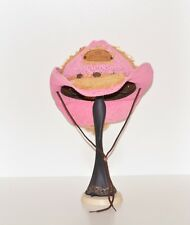 Corona Mexico Women's Pink Straw Cowboy Hat Spring Break Party SZ Medium M Beer