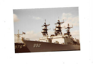 """FOUND PHOTOGRAPH Color Photo USS 976 Merrill  USS 992 Fletcher Side By Side 4x6"""""""