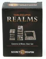 Tablescapes Realms SWSS Stair Set (Caverns & Mines) Secret Weapon Terrain NIB