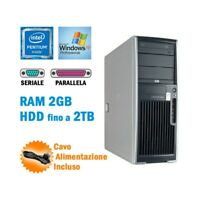 WORKSTATION HP XW4400 PENTIUM D RAM 2GB SERIALE RS232 PARALLELA XP GRADO B-