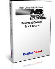 Norfolk Southern Piedmont Division Track Chart 2002 - PDF on CD - RailfanDepot