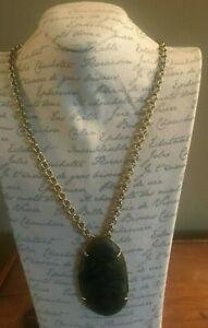 Labradorite Cabochon Long Necklace