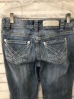 Rock & Roll Cowgirl Mid Rise Jeans Size 28x32 Thick Stitch Faded Western