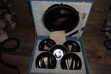 Vintage 60's Nagaoka Yo-Go Japan Black Lacquer Ware Set in Original Case W-Wide