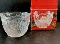 "Mikasa-Holiday Lights-Angel Clear Glass Candleholder -3 1/4""- Used - SA 835/610"