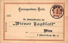 Österreich, Ganzsache a. d. Wiener Tageblatt, rücks. mit Kleinanzeige,1893