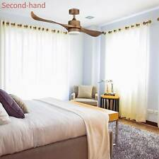 Secondhand 52'' Ceiling Fan LED Panel Light & Remote Control Natural Walnut