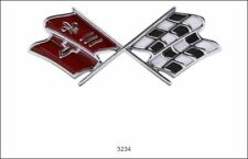 1967 Chevrolet Corvette Front X-Flag w/ Fasteners Brand New Bright Red