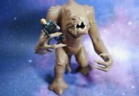 VINTAGE Star Wars RANCOR MONSTER + Luke Skywalker ACTION FIGURE KENNER