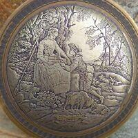 Boite a bijoux Le Berger constant par E.Jeaurat(1699-1789),French box engraved.