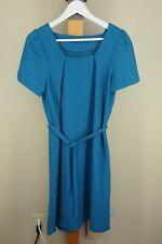 Vintage Femmes Tricoté Jade Blue Écolière 604ms Robe