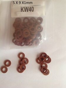 5 6 8 10 12 14 16 18mm Fibre Washers Sealing Red Glands Plumbing Conduit PACK 10