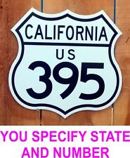 """Route Highway Interstate Sign - Custom state and number - Just for you! 15""""x15"""""""