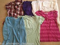 Joblot/Bundle ladies womens clothes tops sizes 8 & 10 long short sleeve TWC01165