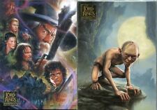 Topps Lord Of The Rings Masterpieces 1 & 2 Base Sets 162 Cards In Total SALE