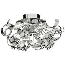 Searchlight 5812-12CC Curls Chrome 12 Light Ceiling Fitting Crystal Beads