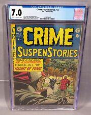 CRIME SUSPENSTORIES #12 (Pre-Code Golden Age Horror) CGC 7.0 EC Comics 1952