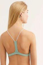 New Free People Womens Seamless Soft Racerback Bra Skinny Strap Bralette $28
