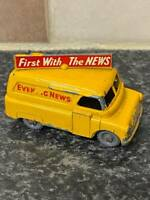 VINTAGE LESNEY MATCHBOX No.42 BEDFORD YELLOW EVENING NEWS VAN VGC FOR AGE