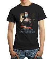 Camiseta Manga Corta Hombre Keep Calm And Stay Home Pandemia - Funny - Divertida