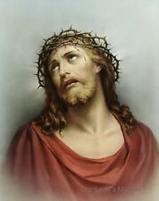 "8"" x 10"" Catholic Picture Print Head of Christ ECCE HOMO"
