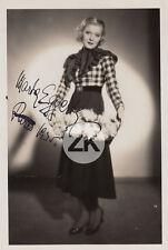MARTHA EGGERT Opérette Actrice Austro-Hongroise LINDNER AUTOGRAPHE Photo 1930s