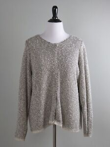 EILEEN FISHER Woman $228 Linen Textured Knit Snap Up Sweater Top Size 2X