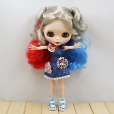"""12"""" Neo Blythe Doll from factory Colorful mixed  hair + jointed articulated body"""