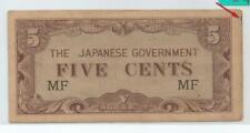B : Malaya Japanese Invasion (JIM) 5 Cents, prefix MF (AUNC)