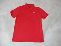 Nike Golf Standard Fit Polo Shirt Adult Large Red White Omega Dri Fit Rugby Men