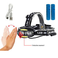30000LM USB LED Headlamp Headlight T6+2*COB+2*Red LED Head Lamp Torch Light