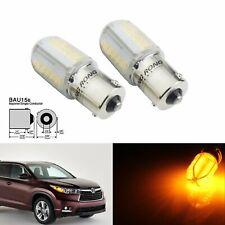 2x 581 PY21W BAU15s Bulbs 8 COB LED Turn Signal Indicator Front Rear Light Amber