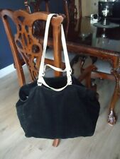 H&M HUGE BLACK THICK SUEDE HOBO BAG  FAB CONDITION