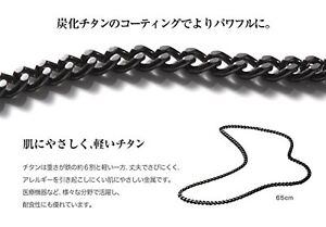 New Phiten RAKUWA 0505TC00 Titanium Carbide Chain Necklace 65cm from JAPAN