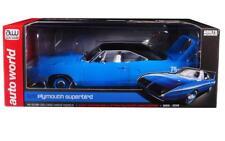 Autoworld 1:18 1970 Plymouth Superbird 50th Anniversary Diecast Blue AMM1137
