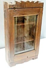 Vintage Wooden Cabinet shabby Chic Curio Display Single Glass Door Showcase