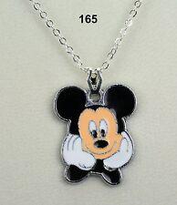 Disney Mickey Mouse Colgante Collar En Plateado Cadena-Bonito Regalo!